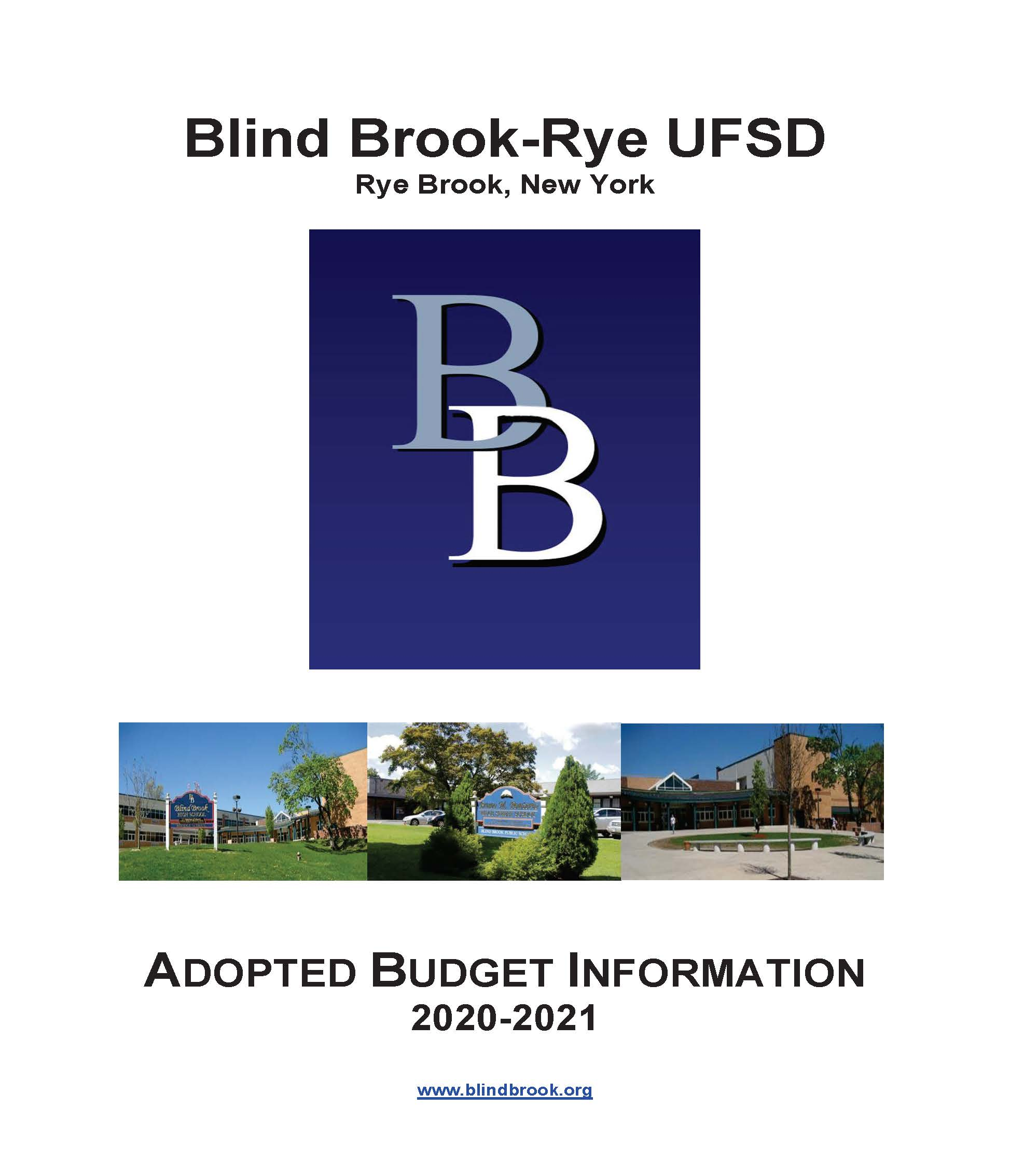 2020-2021 Adopted Budget Information