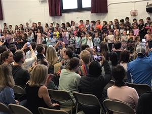 Kindergarten Students Entertain With A Spring Sing!