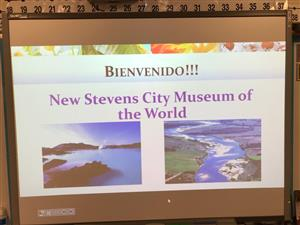 A Sign From Mrs. Steven's class' presentation of Morning at the Museum