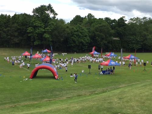 overview of the fun run course