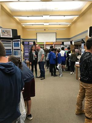 Students present at the May 2019 Science Symposium