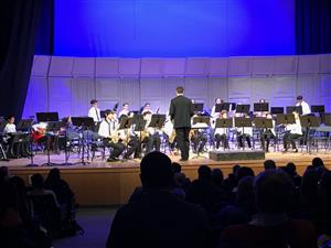 MS Jazz band performs