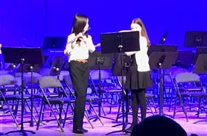 Flute soloists perform at Middle School Band concert