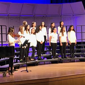8th grade chorus with Miro Sidelev on violin